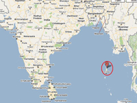Andaman Map - Escape Holiday plans for India