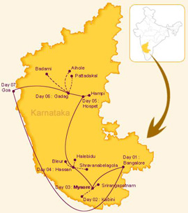The Golden Chariot Luxury Train Route - Indian Culture Vacations